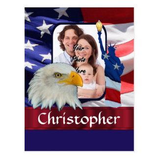 Patriotic American Icon photo template Postcard