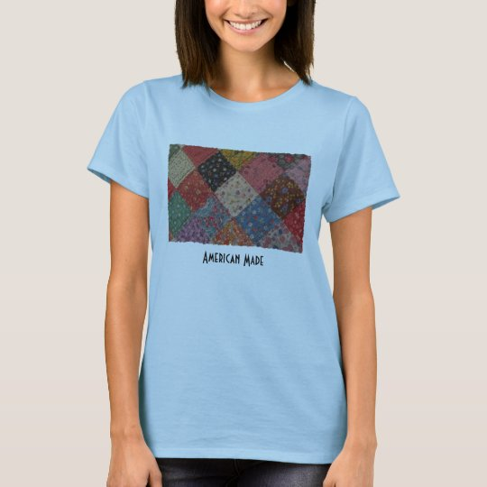 Patriotic American Made Patchwork Quilt T-Shirt