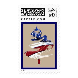 Patriotic American Merry Christmas Tree U.s. Flag Postage at Zazzle