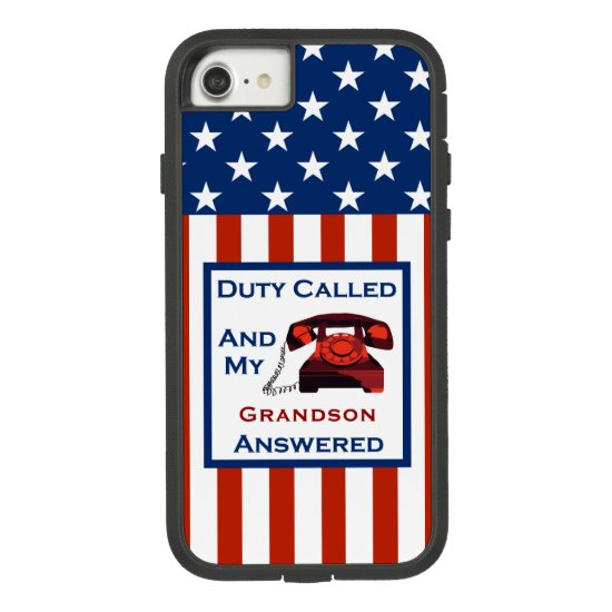 [Patriotic American] Military Veteran Duty Called Case-Mate Tough Extreme iPhone 8/7 Case