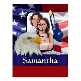 Patriotic American photo template Postcard
