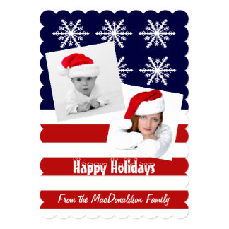 Patriotic American photo template Xmas holiday