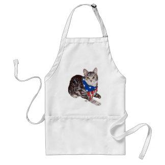 Patriotic American Shorthair Tabby Cat Adult Apron