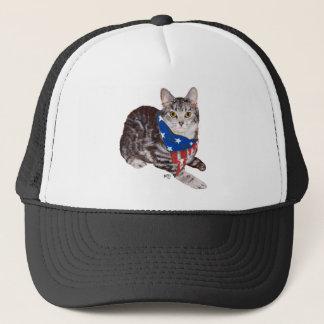Patriotic American Shorthair Tabby Cat Trucker Hat