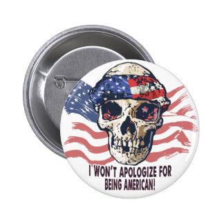 Patriotic American Skull Pins