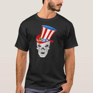 Patriotic American Skull T-Shirt