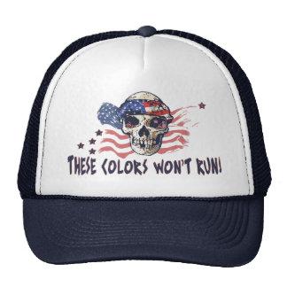 Patriotic American Skull Trucker Hat