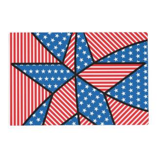 Patriotic American star Placemat