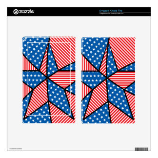 Patriotic American star Skin For Kindle Fire