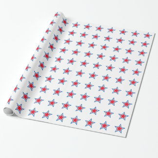 Patriotic  American Star Wrapping Paper