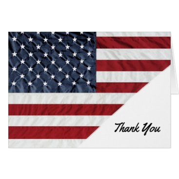 Professional Business Patriotic American Thank You Cards