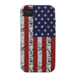 Patriotic American U.S.A. Flag of United States Vibe iPhone 4 Covers