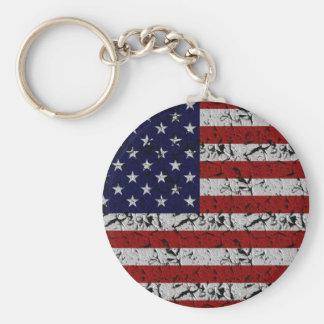 Patriotic American U.S.A. Flag of United States Keychain