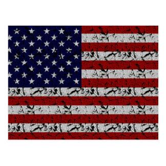 Patriotic American U.S.A. Flag of United States Postcard