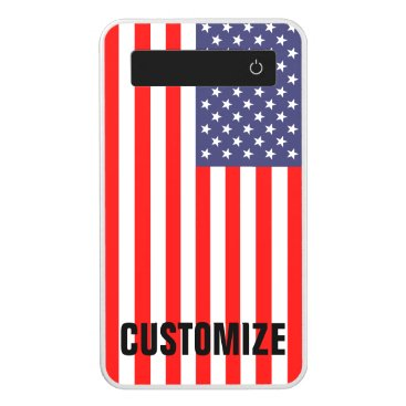 USA Themed Patriotic American US flag Personalized charger