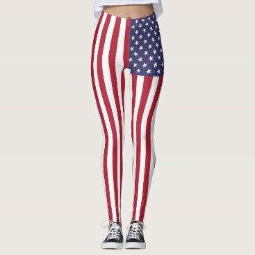 Patriotic American USA Flag Leggings