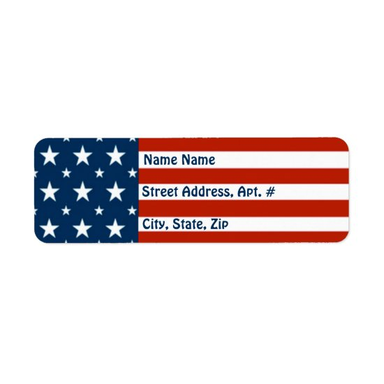 [Patriotic American]  USA Stars & Stripes Flag Label