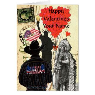 Patriotic american Valentine's day Greeting Card