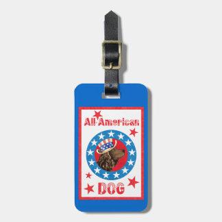 Patriotic American Water Spaniel Bag Tag