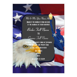 Patriotic American wedding Card