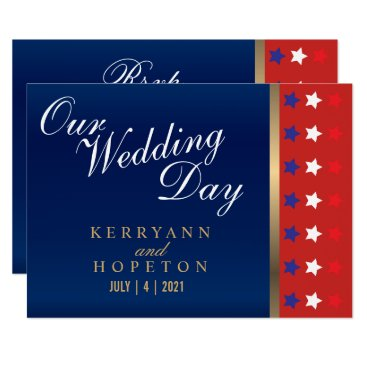 Patriotic American Wedding - RSVP Invitation