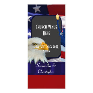 Patriotic American wedding wedding program