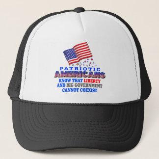 Patriotic Americans Big Government Trucker Hat