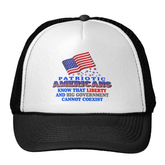 Patriotic Americans Big Government Trucker Hat
