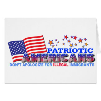 Patriotic Americans Don't Apologize #1 Card