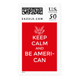 Patriotic and inspirational keep calm, postage