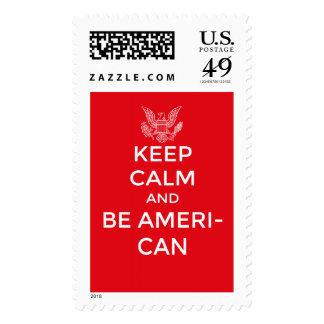 Patriotic and inspirational keep calm, stamp