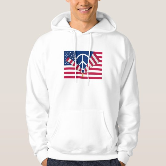 Patriotic AND Pro-Peace Hoodie