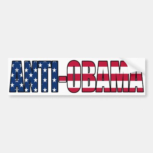 Patriotic Anti-Obama Bumper Sticker Car Bumper Sticker