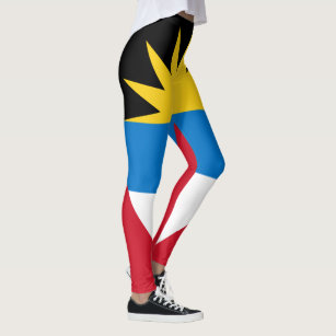 Patriotic Antigua and Barbuda Flag Leggings