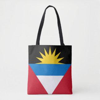 Patriotic Antigua and Barbuda Flag Tote Bag