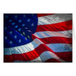 Patriotic Antiqued American Flag Note Card