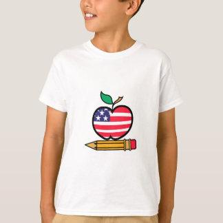 Patriotic Apple & Pencil T-Shirt