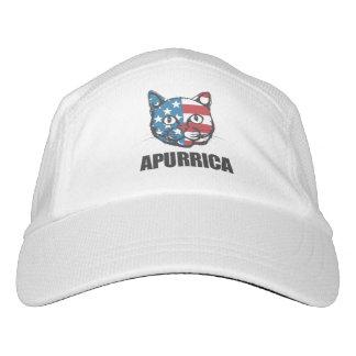 Patriotic Apurrica American Flag Cat Headsweats Hat