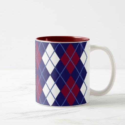 Patriotic Argyle Mug I
