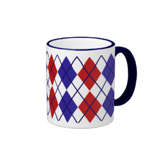 Patriotic Argyle Mug II