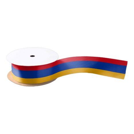 Patriotic Armenian Flag Satin Ribbon