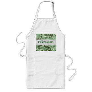 Patriotic Army Custom Green Camouflage Designs Aprons