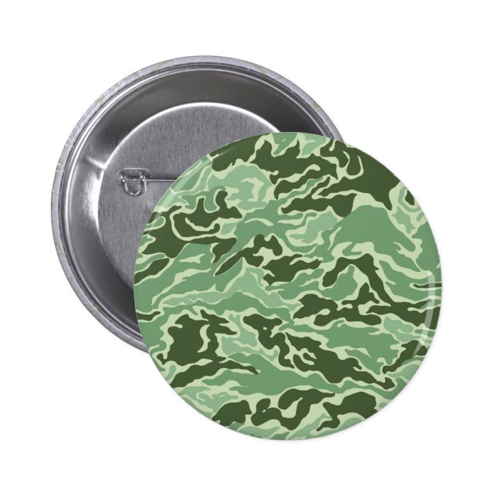 Patriotic Army Custom Green Camouflage Designs Button