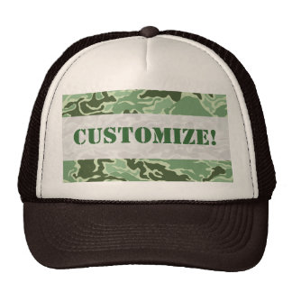 Patriotic Army Custom Green Camouflage Designs Hat