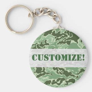 Patriotic Army Custom Green Camouflage Designs Keychain