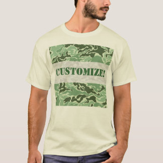 Patriotic Army Custom Green Camouflage Designs T-Shirt