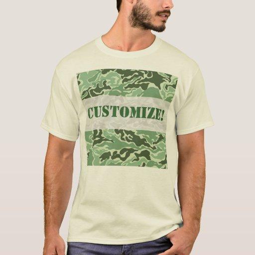 Patriotic Army Custom Green Camouflage Designs T Shirt