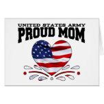 Patriotic Army Mom Greeting Card
