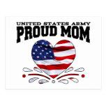 Patriotic Army Mom Postcard
