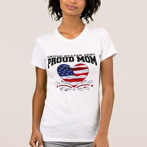 Patriotic Army Mom Tee Shirts